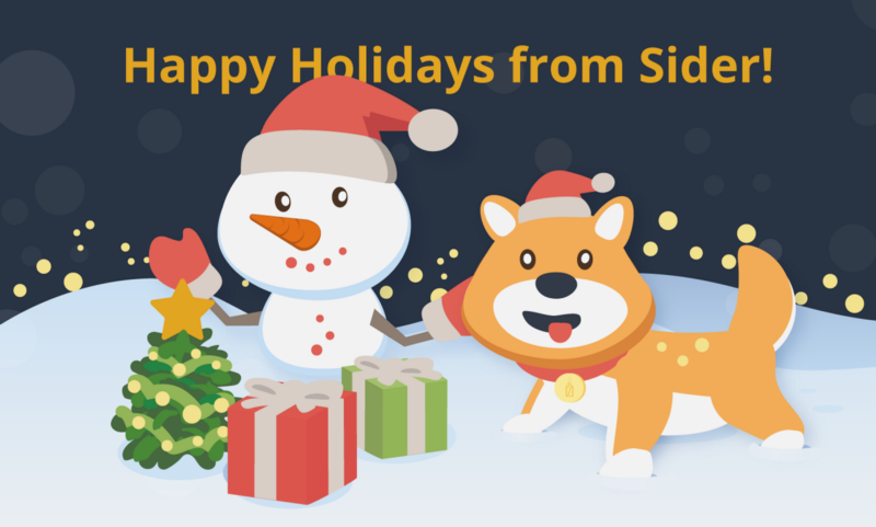 Read more about the article Sider Wishes You a Wonderful Holiday Season!