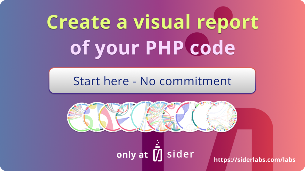Image of link to create a visual report of your PHP code
